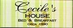 CECILE'S HOUSE CIRCA 1890 Logo