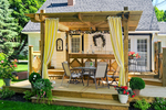 Large 2 level deck great place to enjoy meals outdoors, propane barbecue is also provided
